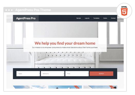 AgentPress pro theme responsive para inmobiliaria
