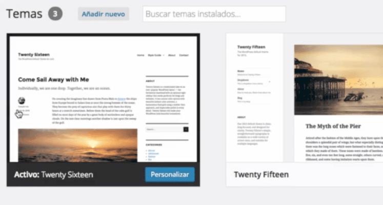 Temas de WordPress