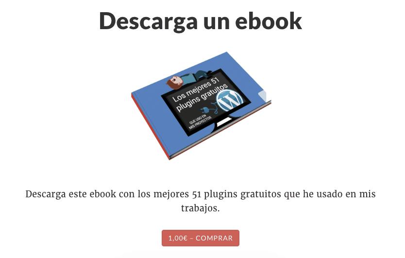 Easy Digital Downloads página de venta