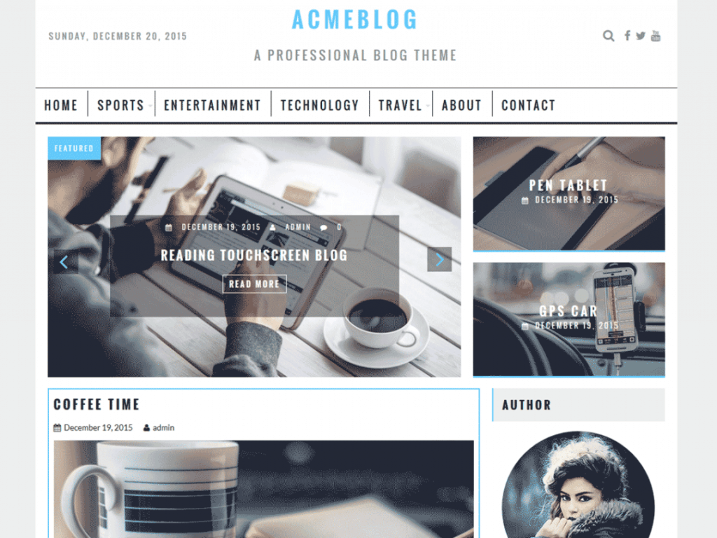 Acme Blog theme