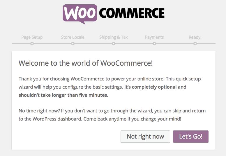 WooCommerce Asistente bienvenido