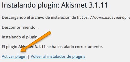 Activar Plugins en WordPress