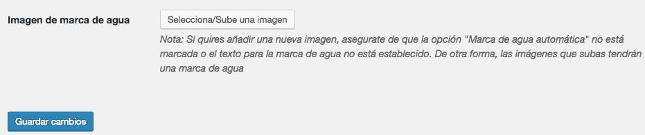 Ajustes del plugin Easy Watermark 2