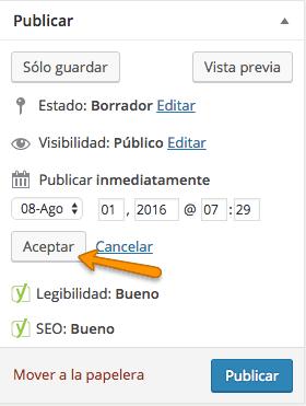 Programar posts en WordPress