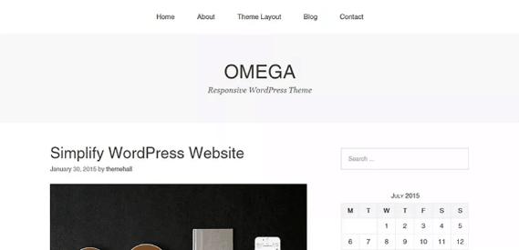 Temas WordPress responsive Omega
