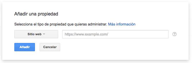 propiedad google webmaster tools