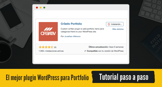 Plugin WordPress para portfolio