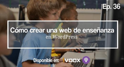 Crear una web de ensenanza en WordPress