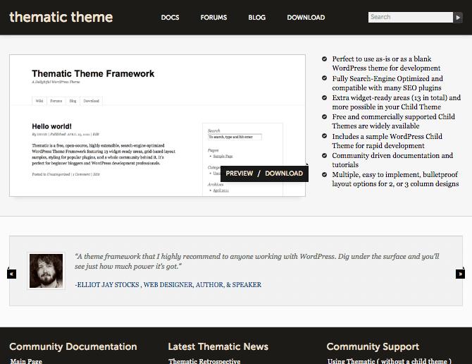 thematic framework