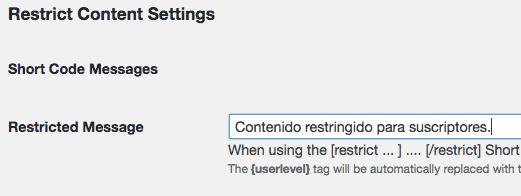 Editar mensaje general de contenido restringido