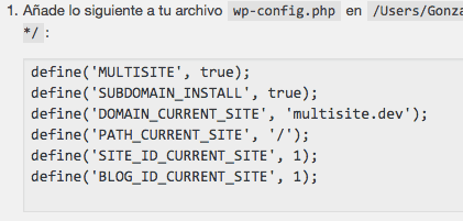activar multisite wp-config