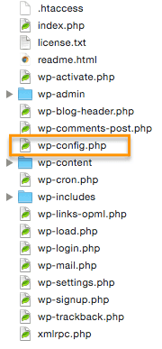 Localizar archivo wp-config