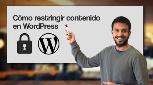Como restringir contenido en WordPress