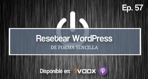 Resetear WordPress