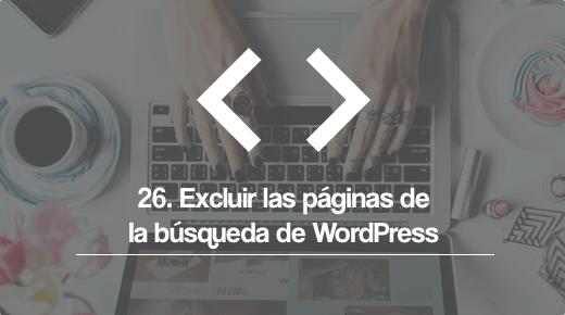 Excluir paginas de la busqeda de wordpress