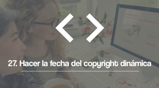 Fecha del copyright dinamica
