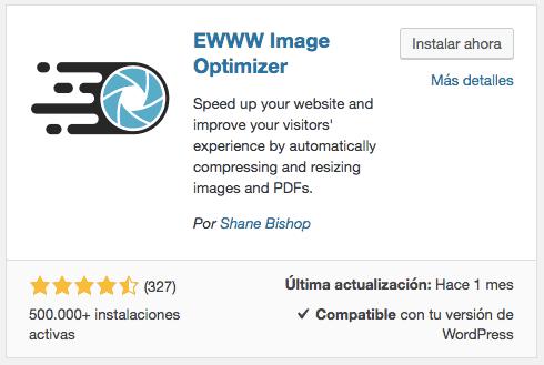 Instalar EWWW Image Optimizer