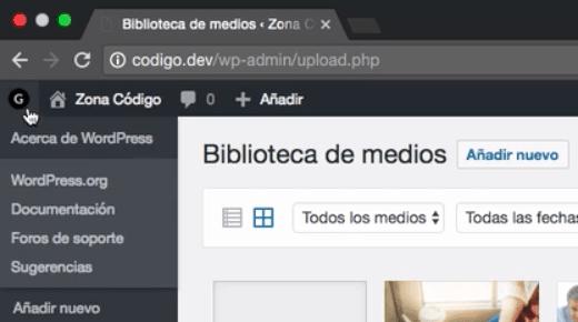 Cambiar logo panel admin WordPress