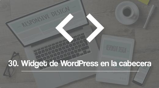 Anadir un widget de WordPress a la cabecera