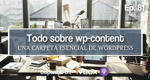 81 | La carpeta wp-content de WordPress explicada en detalle