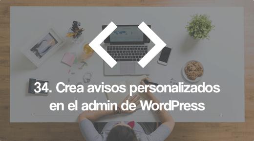 Avisos Personalizados admin WordPress