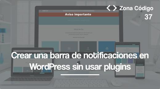 Barra de notificaciones header wordpress