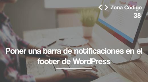 Barra notificaciones footer wordpress