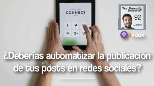 Automatizar publicacion post en redes sociales WordPress