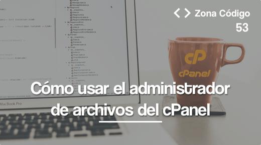 Administrador de archivos del cPanel
