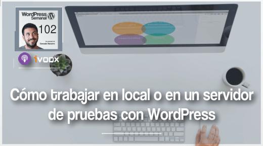 102 | Cómo trabajar en local o en pruebas con WordPress