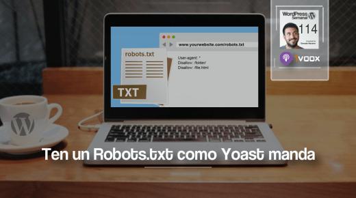 114 | Cómo tener un correcto archivo Robots.txt en WordPress