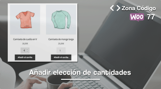 Cantidades de producto woocommerce
