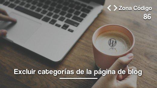 Excluir categorias del blog de WordPress