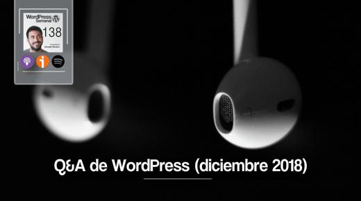 Respuestas WordPress Diciembre 2018
