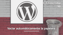 90. Vaciar la papelera de WordPress automáticamente