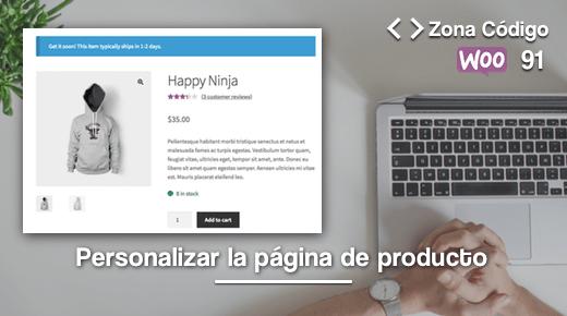 Personalizar la pagina de producto de WooCommerce