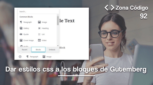 CSS bloques de Gutemberg