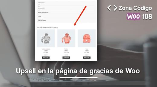 Upsell gracias WooCommerce