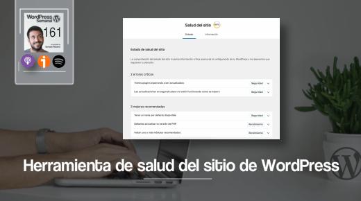 Herramienta salud del sitio WordPress