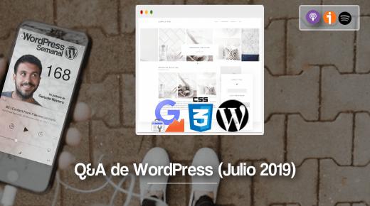 Respuestas WordPress Julio 2019