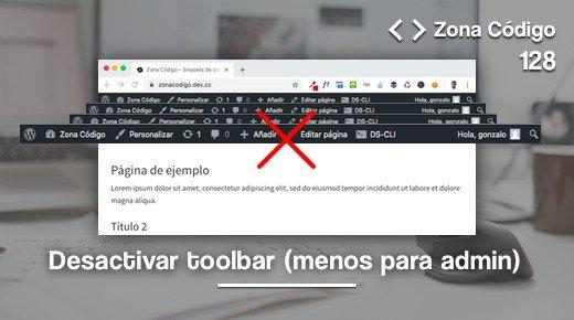 Desactivar admin bar