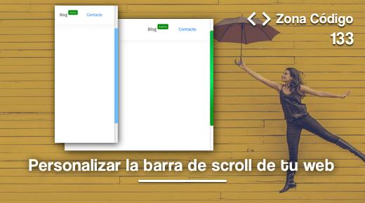 Personalizar scroll bar