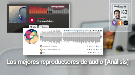 183 | Los top 7 plugins reproductores de audio para WordPress [Análisis]