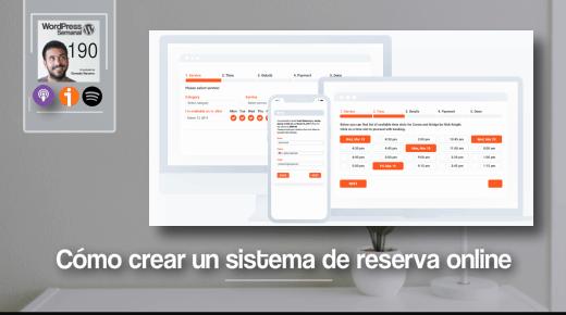 190 | Cómo crear un sistema de reserva de citas y servicios online