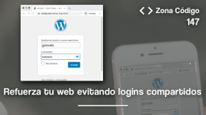 Evita que se comparta el login en WordPress