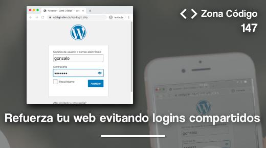 Evita que se comparta el login en WordPress