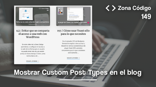 mostrar custom post type en el blog