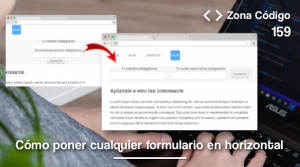 Formularios en horizontal WordPress