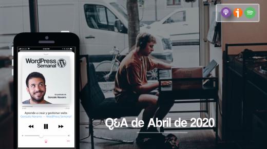 Respuestas WordPress abril 2020