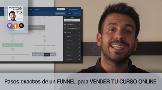 213 | Cómo crear un funnel para vender tu curso online por email